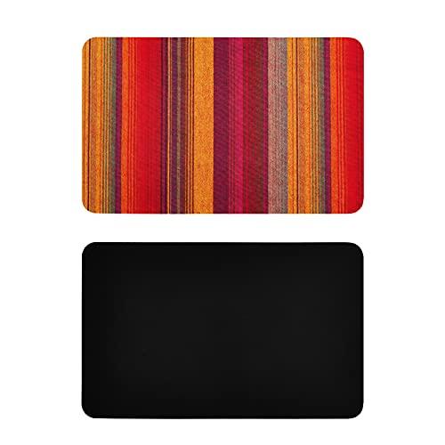 Imán cuadrado para nevera con textura de tela a rayas coloridos imanes de nevera lindos personalizados pvc decorativos imanes de nevera accesorios de cocina divertidos 4x2.5 pulgadas