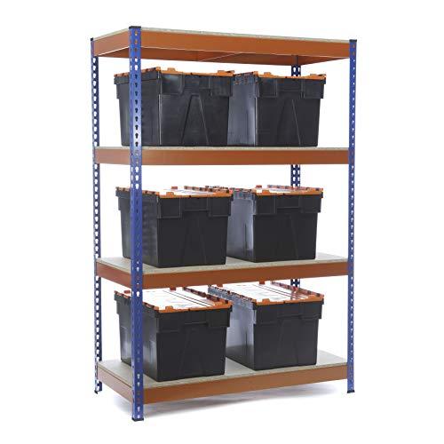 Racking Solutions - Estantería para garaje (4 niveles, 1800 x 1200 x 600...
