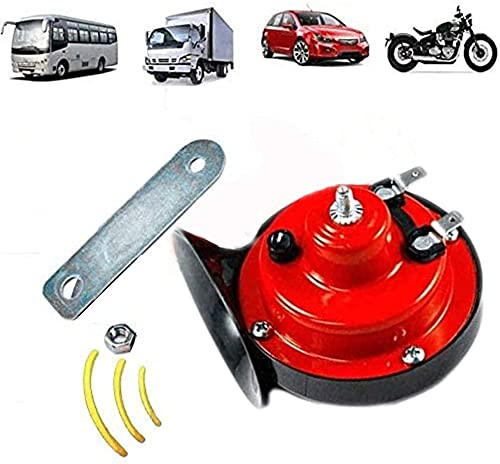 Bocina de tren de 12 V de doble tono, impermeable, para coche, moto, barco (1 unidad)