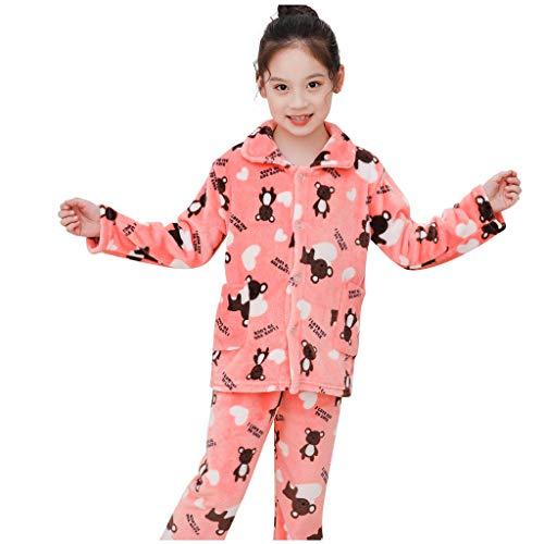 Mädchen Jungen Kids Velvet Warm Winter Pyjama 24 Stück Pjs Sets Unisex Kinder Cartoon Bär Samt Schlafanzug Outfits Flanell Bademäntel Hoodie Nachtwäsche + Schuhe Kinderkleidung