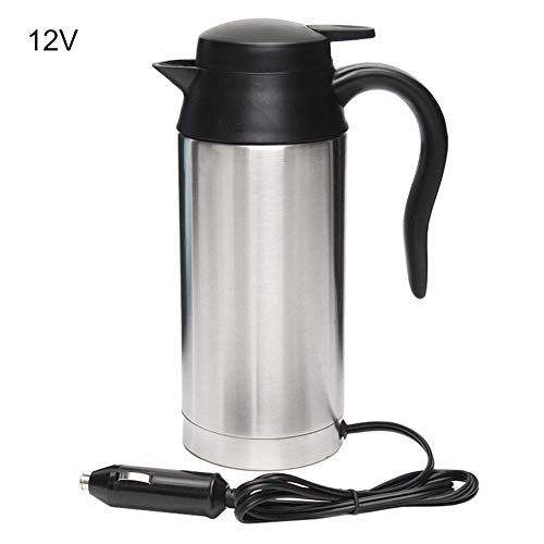 Dyyicun12 Ketel, 12/24V 750ml Reistrip RVS Auto Verwarming Cup Ketel Warm Water Pot