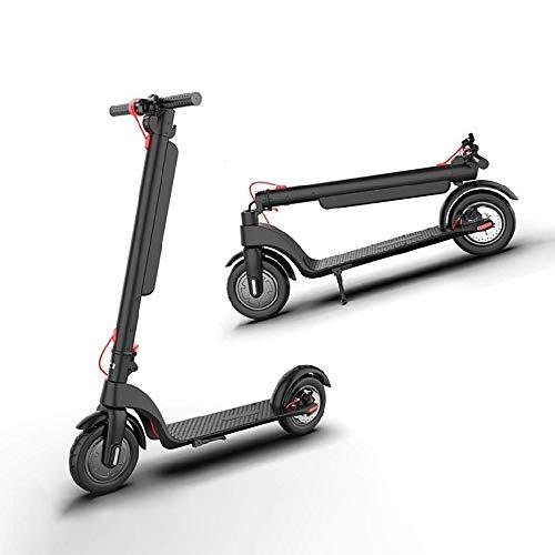 FUJGYLGL Scooter eléctrico Plegable, 350W High Power Smart 8.5 Pulgada 36V batería máxima Velocidad 32 km/h Freno eléctrico, portátil y Extremadamente Ligero for Viajes y desplazamientos
