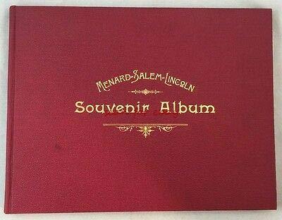 Scarce 1893 Menard Salem Lincoln Petersburgh Illinois Souvenir Album History