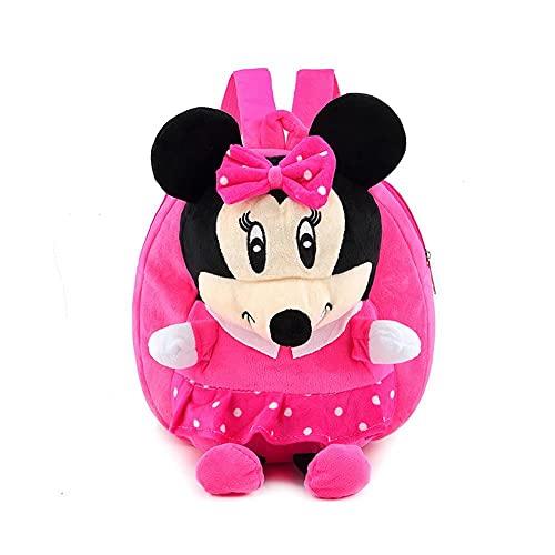 PUYEI Zainetto per la scuola materna Mickey Mouse in peluche, piccolo zaino per la scuola materna, per bambini e ragazzi