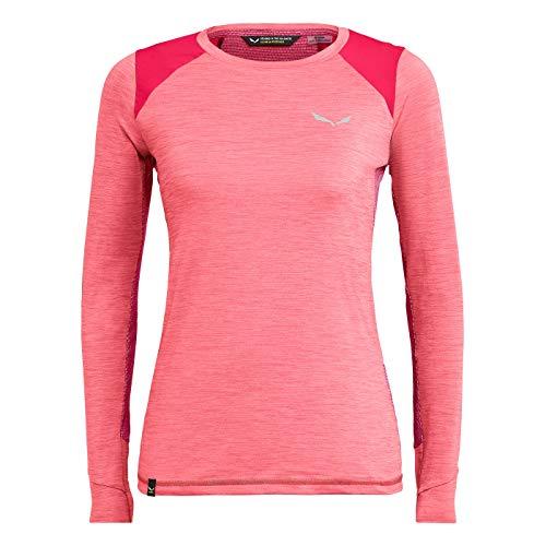 Salewa Pedroc Dry Femmes T-Shirt à Manches Longues 34 Rose 34