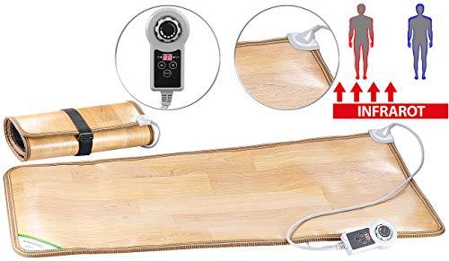 infactory Infrarotmatte: Beheizbare Infrarot-Fußboden-Matte, 105 x 55 cm, bis 60 °C, 150 Watt (Elektrische Fußmatte)