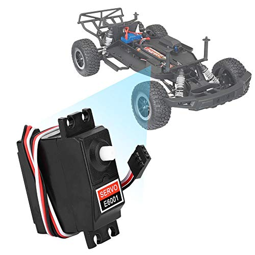 Dilwe RC Servo, 1/10 6KG Plastic Gear Wasserdichter Analog Servo passend für HSP 94105 94106 94166 RC Automodell