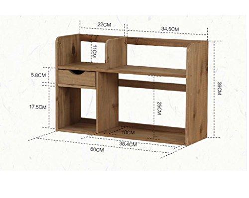 Simple multi-couche solide support de stockage de tiroir de bureau de bibliothèque en bois avec un petit bijou mis plus de viande ( Couleur : Marron , style : B )