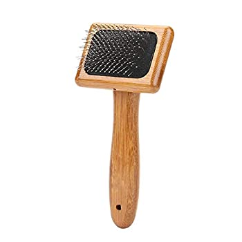 Brosse Poil Chien Chat, Nettoyage de Toilettage Massage Bambou Brosse à Cheveux Poil pour Chien Chat Lapin(#2)