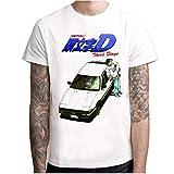 Estate Uomo T-Shirt Sciolto Grandi Dimensioni Stampa AE86 Fujiwara tofu Negozio auto Confortevole Traspirante Elastico Manica Corta Psm36809. S