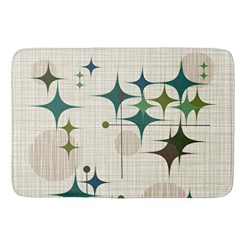 tian huan88 16x24 inch badmat, midden eeuw moderne sterrenstralen en bollen badmat, machinewasbare vloermatten voor badkamer