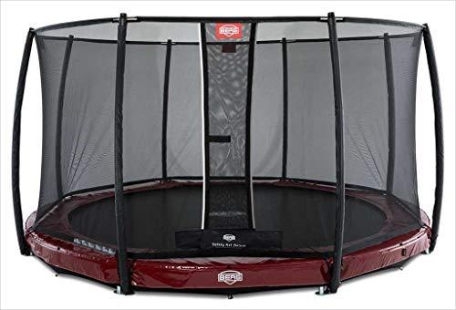 BERG Trampoline Inground Elite round 380 met veiligheidsbehuizing Net Deluxe | Premium trampoline, kindertrampoline, levenslange garantie, spring hoger met TwinSpring en Airflow