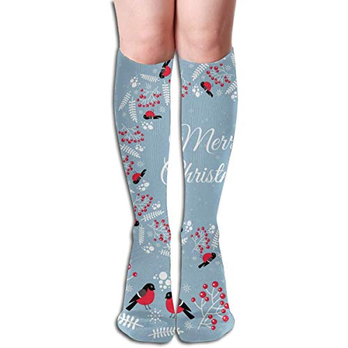 Merry Christmas Winter Bullfinches Unisex Moisture Wicking Athletic Crew Socks,Casual Socks,Short Sock Flexible And Breathable,Lightweight And Durable Very Suitable Running, Walking, Gym Fitness.