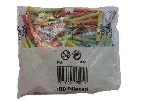 Wolf & Appenzeller 220100 - Röllchenlose Nieten, 100 Stück, bunt