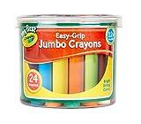 My First Crayola 24 Jumbo-Buntstifte Easy-Grip, Jumbo-Malkreide mehrfarbig