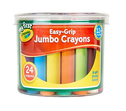 My First Crayola Boîte de 24 gros crayons Crayons Jumbo à prise en main facile. multicolore