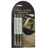 ワイン愛好家 ワイングラス ライター メタリックペン (3本パック)