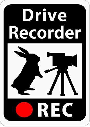 Craft Bunny ( Japan ) Car Magnet Sticker for Drive Recorder/Rabbit and video camera/Measures of tailgating drivers/White/s21