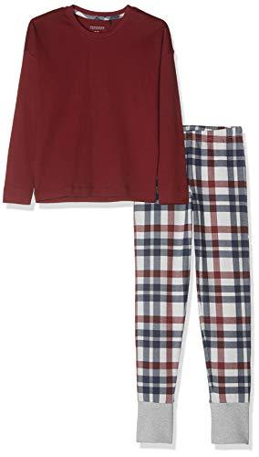 Schiesser Mädchen Family lang Zweiteiliger Schlafanzug, Rot (Dunkelrot 507), (Herstellergröße: 164)