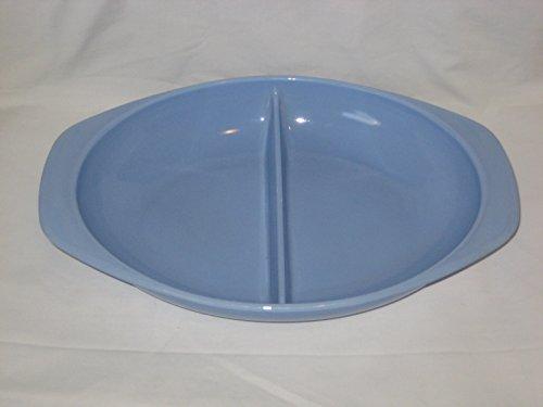 Vintage Pyrex 1 1/2 Quart Delphite Blue Divided Casserole Baking Dish