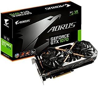 GIGABYTE AORUS GTX 1070 8Gb - Tarjeta gráfica (NVIDIA, GeForce GTX 1070 Ti 8Gb, 1835 MHz, 2-Way SLI)