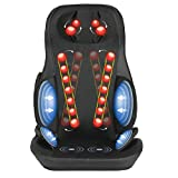 Nager Shiatsu Snug Neck & Back Massager Pad- Vibration Seat, Back Kneading & Rolling Massage with Heat, for Home and Office, Black