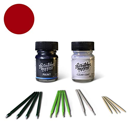 ScratchesHappen Exact-Match Touch Up Paint Kit Compatible with Ford/Lincoln Ruby Red (RR/M7283A) Tricoat - Essential