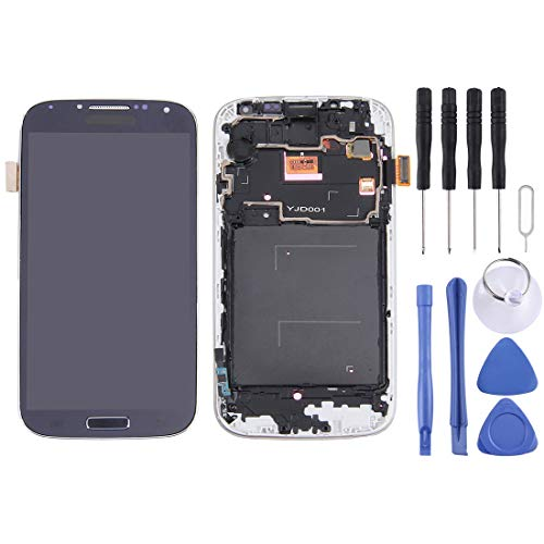 CHEZHAN -LCD Display (TFT) + Touch Panel with Frame for Galaxy S IV / i9500 / i9505(Black) (Color : Black)