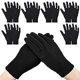 GiantGo guantes de algodón negro, 12 pares de guantes de inspección, guantes de trabajo de...