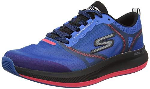 Skechers Herren GO Run Pulse Sneaker, Blau Blau Textil Synthetik Rot Besatz Bl Rd, 45 EU