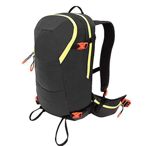 LTJLWB-backpack Sac à Dos pour Le Ski en Plein Air Alpinisme Sac De RandonnéE Sac à BandoulièRe Sac Souple en Tissu RéSistant à l'usure ImperméAble Noir Hommes Et Femmes 20 L