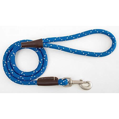 Mendota Products Mendota Night Viz Reflective Snap Lead .5in x 6ft Blue