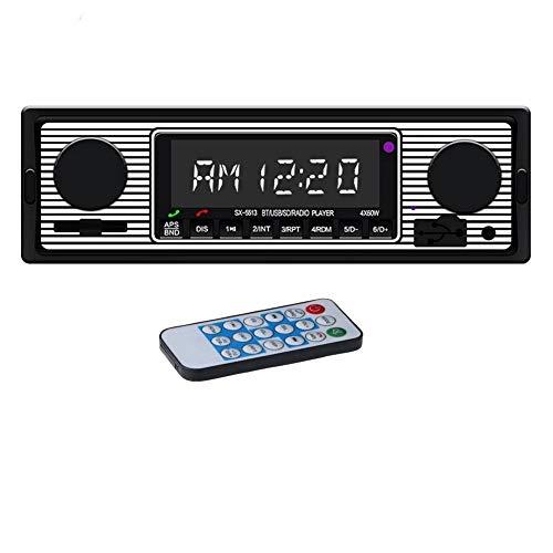 Stéréo de Voiture avec Bluetooth, autoradio avec Port USB/SD/AUX, Radio FM pour autoradio, Lecteur MP3 numérique, Appel Mains Libres avec télécommande sans Fil