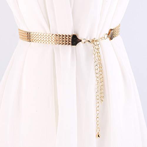 Taille Chain, Metal Golfpatroon Woven Belt Women Wide Aliexpress decoratieve taille keten Wild eenvoudige jurk Belt