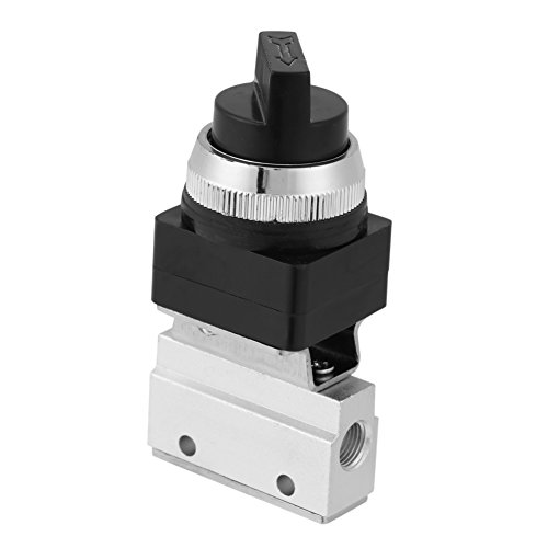 Air Valve, Pneumatic Valve Thread Plunger Valve Mechanical Valve Hand Control Valve Metal for Controlling Diaphragms Of Larger Valves Or Small Cylinders