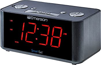Emerson SmartSet Alarm Clock Radio with Bluetooth Speaker Charging Station/Phone Chargers with USB port for iPhone/iPad/iPod/Android and Tablets ER100201