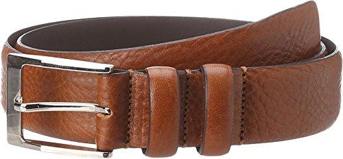 Florsheim Men's Italian Full Grain Leather Feather Edge 32mm, Cognac, 34