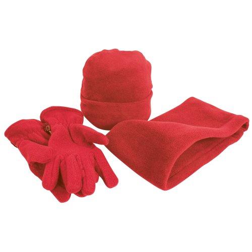 Result - Ensemble bonnet, gants et tour de cou polaires - Homme (L) (Rouge)