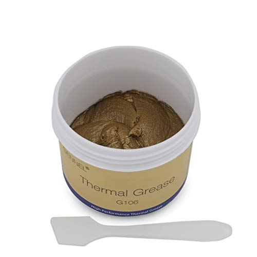 GENNEL G106 100Grams Gold Thermal Compound Paste, Heat Sink Paste, Heat Conductive Grease for CPU GPU LED Chipset High Performance