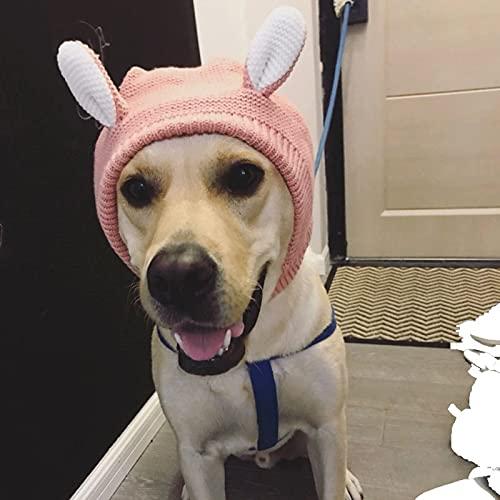 ZXZCHGN Muffs del oído del perro, protección contra el ruido y la capucha del cálculo de los oídos, el cuello de la mascota con el cuello de las orejas del cuello, la protección de ruido Perro de punt