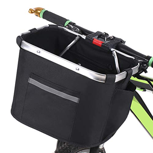 Lixada Fahrradkorb Fahrrad Vorne Faltbarer Hängekorb Abnehmbarer Wasserdicht Lenker Haustier Bikebasket Gepacktasche