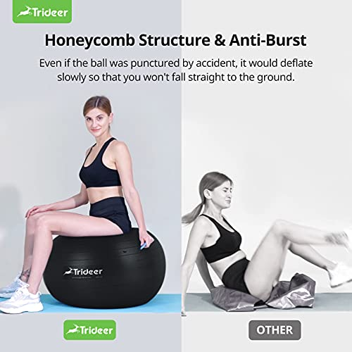 Trideer Exercise Ball, Extra Thick Yoga Ball Chair