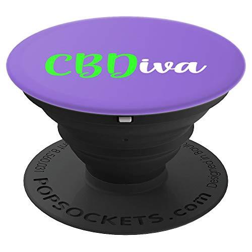 CBD Diva CBD Oil Women's Affiliate CBDiva Dealer Fun Gift PopSockets Grip and Stand for Phones and Tablets