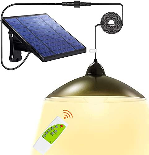 Solarlampen für Außen,Solar Hängelampe mit 2 Modi,3 helle Farben,5m Kabel,Fernbedienung,180 ° Einstellbares Solarpanel,IP65 Wasserdichte für Garten,Terrassen,Haus Dekoration