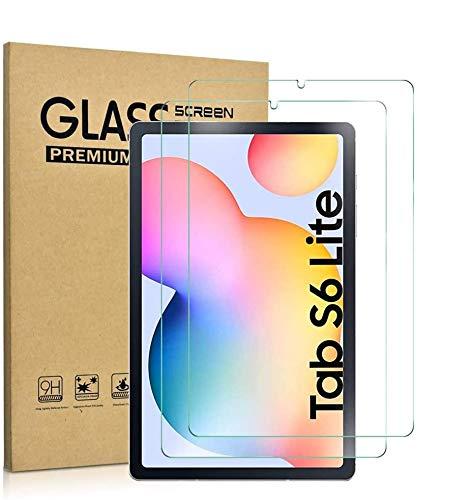[2 Pezzi] KATUMO Proteggi Schermo per Samsung Galaxy Tab S6 Lite 10,4 Pollici Pellicola Protettiva per Samsung P610 P615 Vetro Temperato per Galaxy Tab S6 Lite