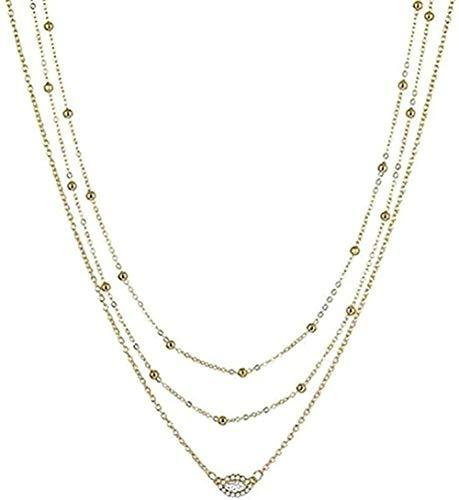 ZJJLWL Co.,ltd Necklace Necklace Jewelry Woman Pendant Women Gold Necklace Jewelry Key Lock Multilayer Pendant