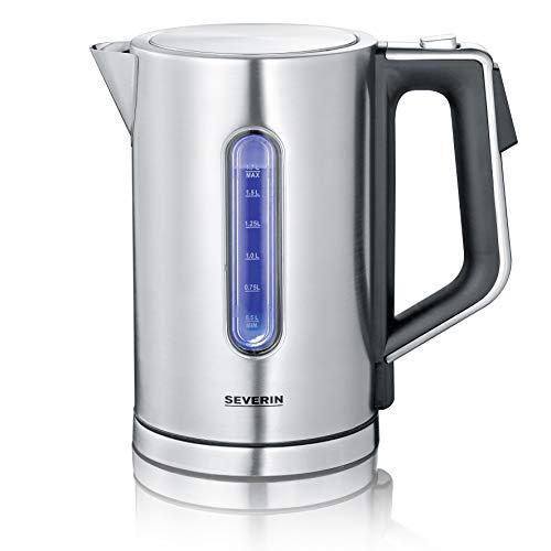 SEVERIN WK 3418 Digitaler Wasserkocher mit Fast-Boil-Power und individueller Temperaturauswahl, 1,7 l XXL-Füllvolumen, 3000 W, 100% BPA-frei