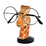 ZEACCT Porta Occhiali in Legno a Forma di Animale Supporto da Vista in Legno da Sole Stand Supporto per Occhiali Handmade da Sole per casa Ufficio Uomo Donna Bambini Regalo portaocchiali (Giraffa)