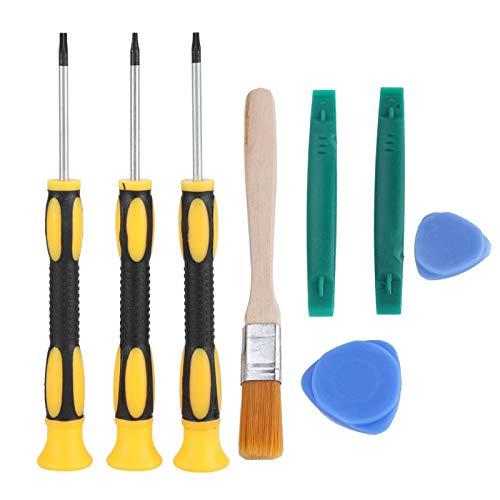 DAUERHAFT Material plástico Kit de Herramientas de reparación Juego de Destornilladores Consola de Juegos Mango Herramienta de desmontaje Desmontaje Profesional 8PCS, para Juegos, para X-b-ox 360