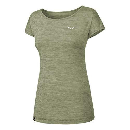 Salewa 00-0000026538_5075 T-Shirt Femme, Feldspar Green Mel, FR : M (Taille Fabricant : 44/38)